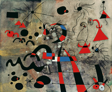 脱逃的梯子The Escape Ladder, 1940, Joan Miró. 摄影: SuccessióMiró/ADAGP, Paris and DACS, London 2011/Tate Modern