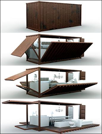 illy的集装箱咖啡馆模型