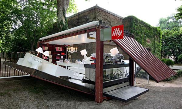 illy的集装箱咖啡馆实例