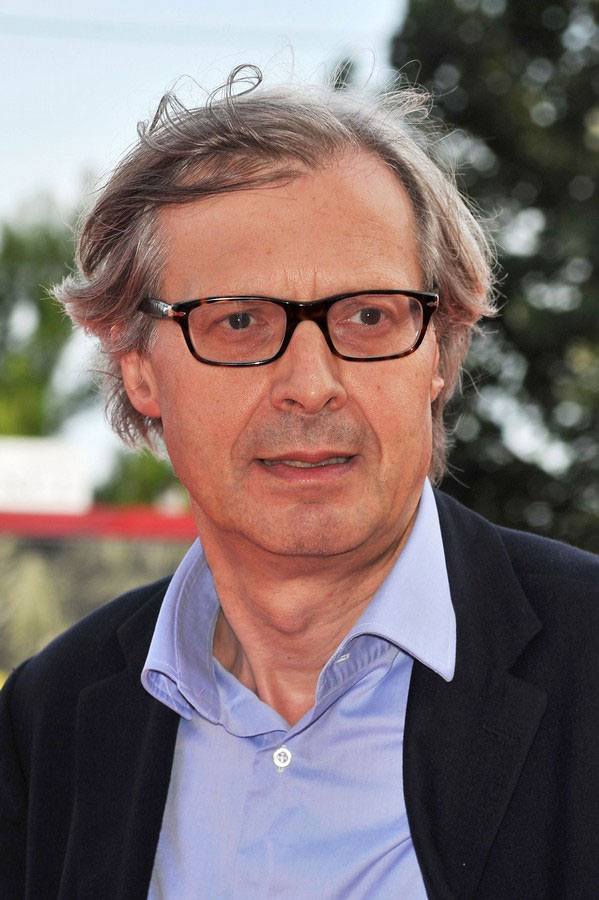 Curator of the Italian pavilion at the Venice Biennale Vittorio Sgarbi