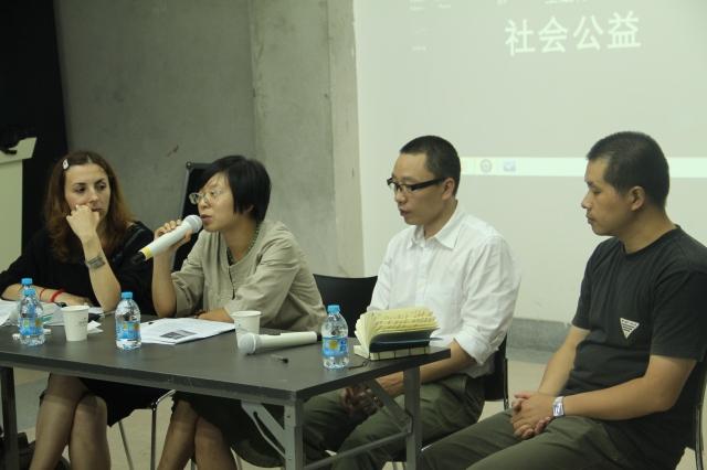 How to do things with art_panel discussion,从左至右:Biljana Ciric,顾灵,刘迎九,李牧