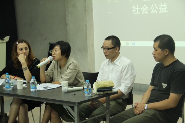 How to do things with art_panel discussion,从左至右:Biljana Ciric,顾灵,刘迎九,李牧
