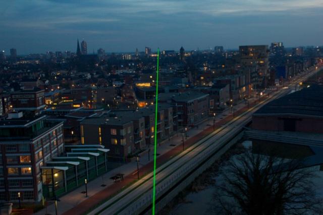 N 52 14.053,E 6 53.796 - N 52 13.247,E 6 53.738,Green Laser, 2x2mm,1530m