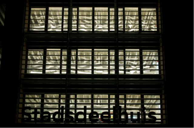 Stadsdeelhuis Oost,16x16x3m,paper,mirrorball motors,2009