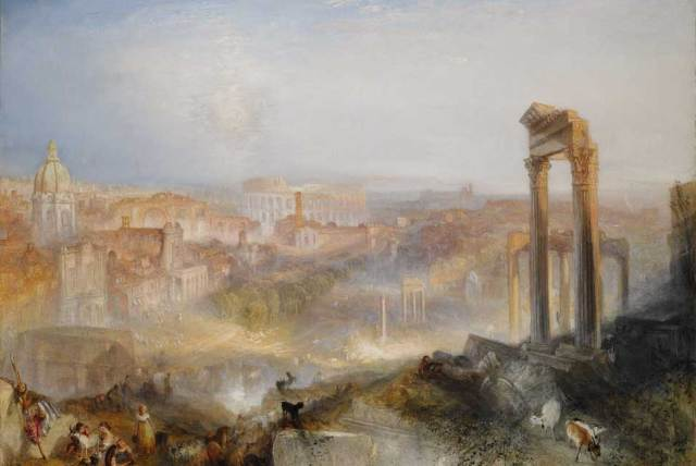 J.M.W.Turner RA,Modern Rome-Campo Vaccino.Oil on canvas,pounds12-18 million,90.2 by 122 cm,35.5 by 48 inches