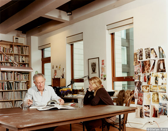 Simon Schama and Cindy Sherman in her New York studio
