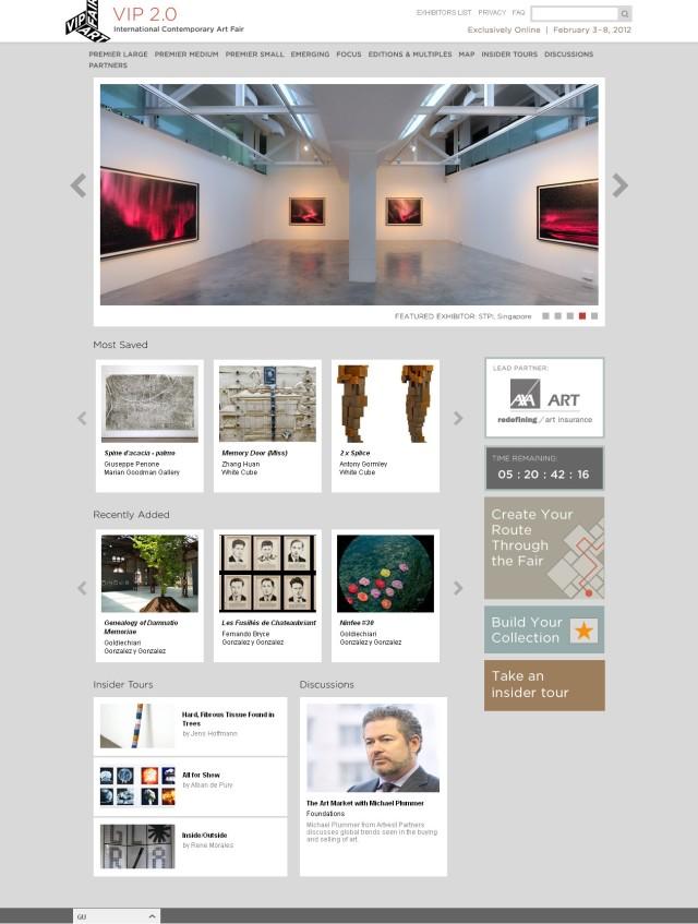 VIP Art Fair 2.0 Homepage